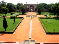Entry and main gate of Humayun's Tomb, from the mausoleum.